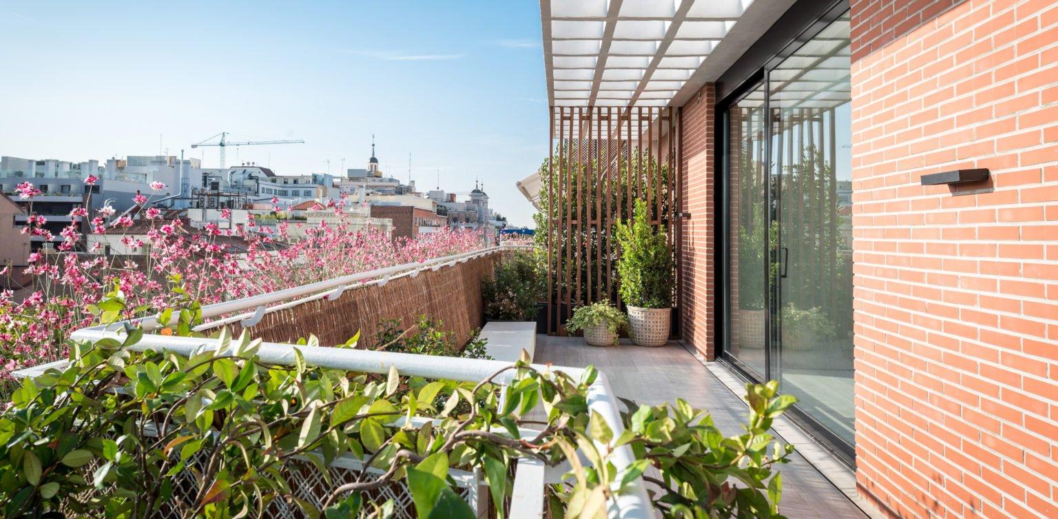 Proyecto de paisajismo en un ático con vistas a Serrano